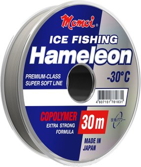 Леска Hameleon Ice Fishing, 30м 0,10мм 1,3кг