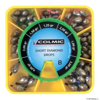 "Набор грузил-оливок Colmic ""SHORT DIAMOND"" BOX B"