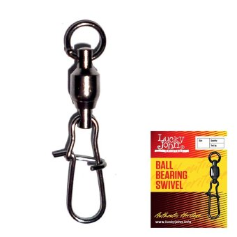 Вертлюги c застежкой и подш. Lucky John BALL BEARING SWIVEL 002 3шт. 5009-002