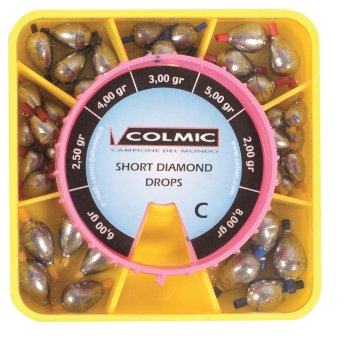 Набор грузил-оливок Colmic SHORT DIAMOND BOX C