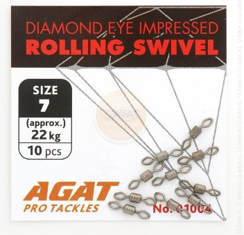 Вертлюжок Agat Diamond Eye Rolling swivell AG-1004, #8