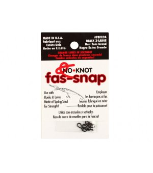 Застежка Kipper No-Knot Fast-Snap Black Large