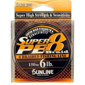 Шнур Sunline Super PE 8 Braid 150m (ORANGE) 8LB