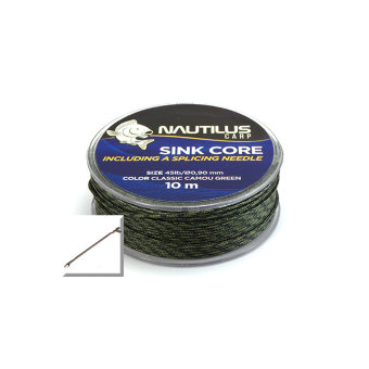 Лидкор Nautilus Sink Core Camo Green 45lb 10м + needle