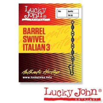 Вертлюги c застеж. Lucky John BARREL3 AND ITALIAN 012 10шт. LJ5035-012