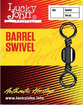 Вертлюги Lucky John BARREL SWIVEL 012 10шт.5006-012