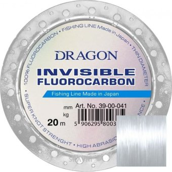 Леска Fluorocarbon Dragon Invisible 20m, 0.18mm/2.35kg